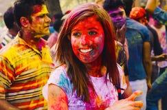Holi festiwal Szczęśliwy Holi! Obraz Royalty Free