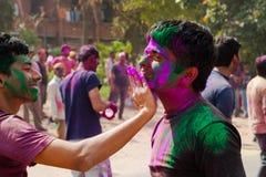 Holi festiwalu świętowania w India Fotografia Royalty Free