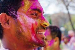 Holi festiwalu świętowania w India Zdjęcie Royalty Free