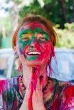 Holi festiwalu świętowania w India Zdjęcie Stock