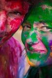 Holi festiwalu świętowania w India Obraz Stock