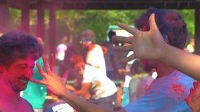 Holi festiwalu zwolnione tempo zbiory wideo