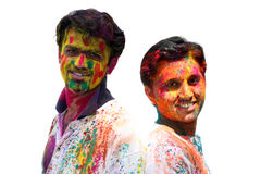 Holi Friends Royalty Free Stock Photos