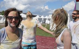 Holi Friends Royalty Free Stock Photography