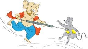 Holi Ganesha Stock Image