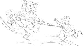 Holi Ganesha Stock Photography