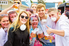 Holi Gaudy Festival, Stuttgart May 10th, 2014 Royalty Free Stock Photos
