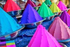 Holi gekleurd poeder Royalty-vrije Stock Foto's