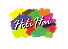 Holi Greeting Card vector illustration