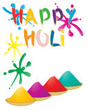 Holi greeting Royalty Free Stock Photos