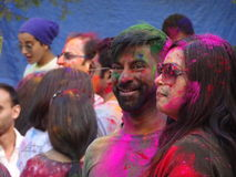 Holi Hai NYC 2016 11. Hosted by NYC Bhangra Dance Company, Holi Hai is an annual festival of colors in New York City that commemorates the Hindu holiday of Holi stock photography