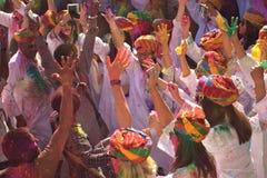 HOLI het 'Festival van Kleuren ' royalty-vrije stock foto's