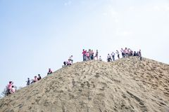 Holi het Festival van Kleurenviering in Tundikhel Katmandu Nepal stock afbeelding