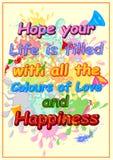 Holi heureux, festival de couleurs Photos stock