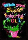 Holi heureux, festival de couleurs Photographie stock libre de droits