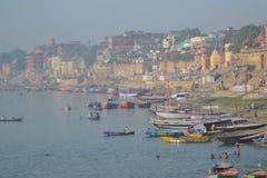 Holi hindu city of Varanasi in India Royalty Free Stock Images