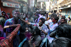Holi of Hinndus festival Stock Photo