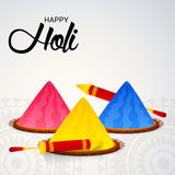 Holi. Illustration of a Banner for Happy Holi royalty free illustration