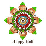 Holi. Illustration of a Banner for Happy Holi Royalty Free Stock Photos