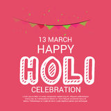 Holi. Illustration of a Banner for Happy Holi Stock Image