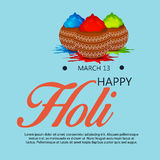 Holi. Illustration of a Banner for Happy Holi Stock Photo