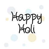 Holi. Illustration of a Banner for Happy Holi Stock Images