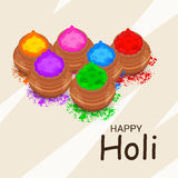 Holi. Illustration of a Banner for Happy Holi Stock Photos