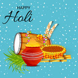 Holi. Illustration of a Banner for Happy Holi Royalty Free Stock Image