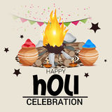 Holi. Illustration of a Banner for Happy Holi Stock Photography