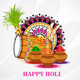 Holi. Illustration of a Banner for Happy Holi Royalty Free Stock Photography