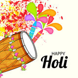 Holi. Illustration of a Banner for Happy Holi Royalty Free Stock Images