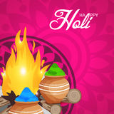Holi. Illustration of a Banner for Happy Holi Royalty Free Stock Photo