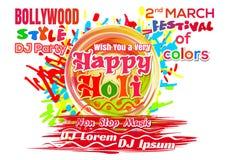 Holi - Indiański festiwal kolory 2018 i wiosna ilustracja wektor