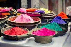 Holi india da loja da cor de Rangoli Fotografia de Stock