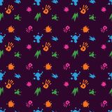 Holi Indian Festive Seamless Patterns stock illustration
