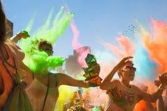 Holi Jeden festiwal zdjęcie stock