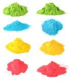 Holi koloru set Obrazy Stock