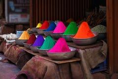 Holi paint closeup Stock Image