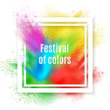 Holi Paint Frame Background vector illustration