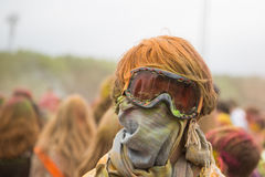 At the Holi paint party. Stock Photography