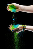 Holi painted hands Royalty Free Stock Images
