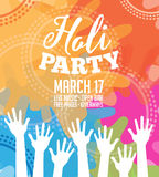 Holi Party invitation poster greeting card design. Stock Images