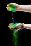 Holi a peint des mains Images libres de droits