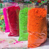 Holi powder paints Royalty Free Stock Image