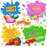 Holi promotional background Stock Photos
