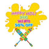 Holi promotional background Stock Photography