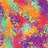 Holi seamless pattern. Ornament of bright colored spots. Colorfu Stock Photos