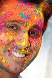 Holi Smile Stock Photo