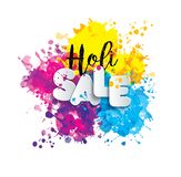 Holi spring festival of colors design element and sign sale holi. Can use for banners, invitations. Holi spring festival of colors design element and sign sale Stock Photos