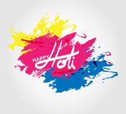 Holi spring festival of colors greeting. Elements for card design , Happy Holi colorful design Stock Image